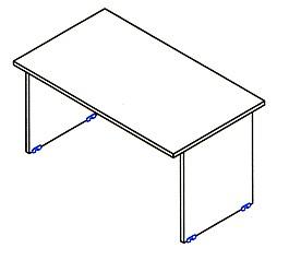 60 cm mély laplábas asztal